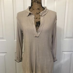 "FREE PEOPLE ""Annie"" Pullover Top, Cream, XS"